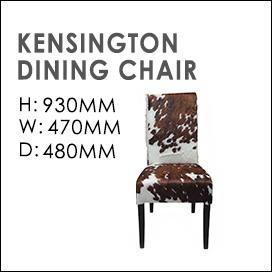 Kensington Cowhide Dining Chairs