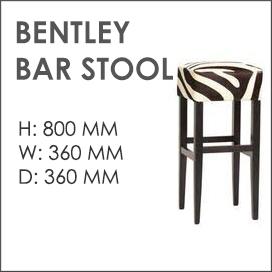 Bentley Cowhide Bar Stool