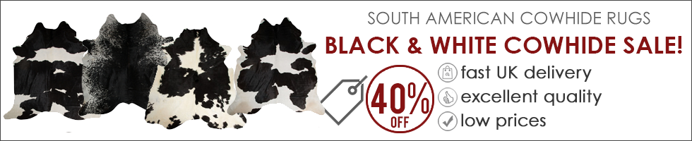 Black & White Cowhide Rug Sale